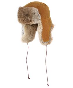GI'N'GI | Waxed Cotton Lapin Fur Trapper Hat