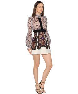 Giambattista Valli | Printed Embroidered Georgette Dress