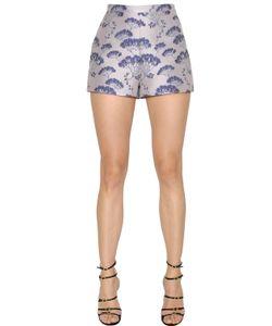 Giambattista Valli | Floral Jacquard High Waisted Shorts