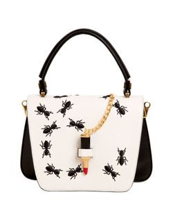 GIANCARLO PETRIGLIA | Mini Queen Embroidered Ants Leather Bag