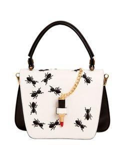 GIANCARLO PETRIGLIA | Mini Queen Embroidered Ants Leather Bag
