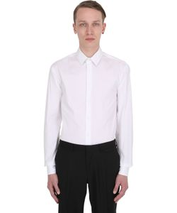 Giorgio Armani | Slim Fit Stretch Cotton Poplin Shirt