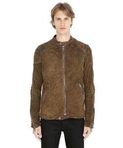 Giorgio Brato | Vintage Washed Reversed Leather Jacket