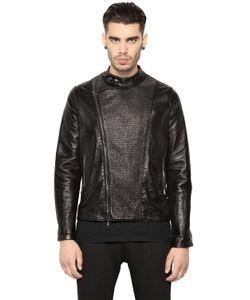 GIORGIO BRATO INTERPRETA DUCATI   Studded Water Repellent Leather Jacket