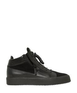 Giuseppe Zanotti Design | Zip-Up Leather Suede Mid Top Sneakers