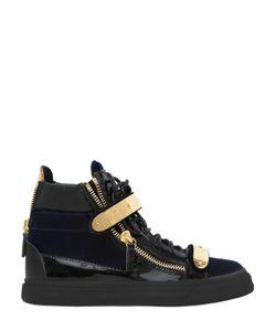 Giuseppe Zanotti Design   20mm Bangle Velvet Leather Sneakers