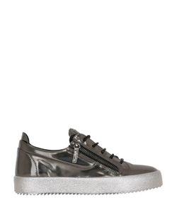Giuseppe Zanotti Design | Metallic Brushed Leather Sneakers