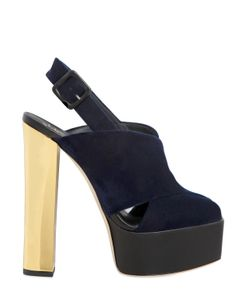 Giuseppe Zanotti Design | 140mm Crisscrossing Velvet Sandals