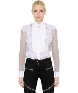 Givenchy | Sheer Washed Chiffon Lace Shirt