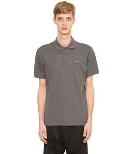 Givenchy | Cuban Logo Patch Cotton Piqué Polo Shirt