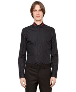 Givenchy | Embroidered Collar Cotton Poplin Shirt