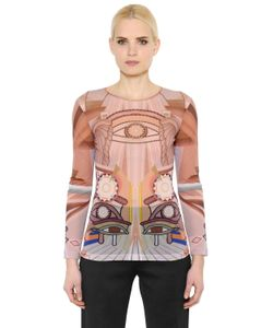 Givenchy | Eye Printed Sheer Stretch Tulle Top