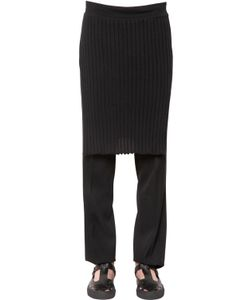 Givenchy   Ribbed Cotton Knit Skirt