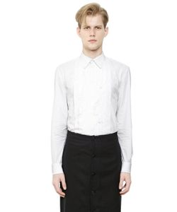 Givenchy | Cotton Poplin Shirt W/ Frayed Plastron