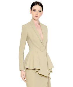 Givenchy | Stretch Viscose Cady Jacket With Peplum