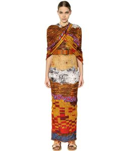 Givenchy | Printed Viscose Jersey Long Dress