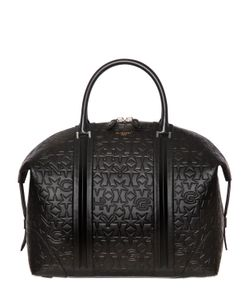 Givenchy | Star Logo Embossed Leather Duffle Bag