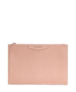 Givenchy   Medium Metallic Leather Pouch