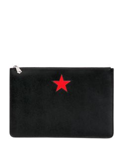 Givenchy | Large Smooth Leather Pouch With Star