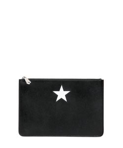 Givenchy | Medium Smooth Leather Pouch With Star