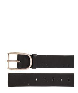 Givenchy   Destroyed Leather Belt