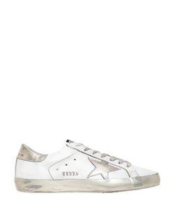 Golden Goose | Super Star Leather Metallic Sneakers