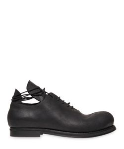 GÖRAN HORAL | Waxed Leather Oxford Lace-Up Shoes