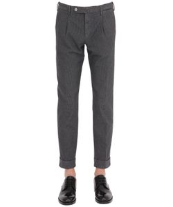 GTA | 17cm Slim Fit Cropped Stretch Wool Pants