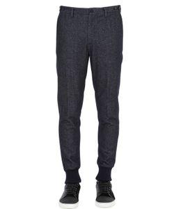 GTA | Denim Effect Cotton Blend Jersey Pants