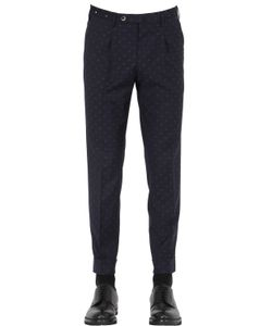 GTA | 17cm Embroidered Cool Wool Pants