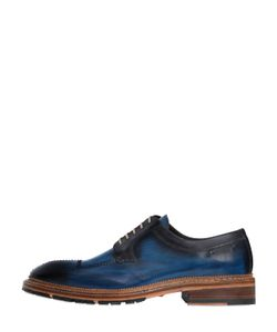 Harris | Stitched Brushed Leather Derby Shoes