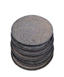 HAYEK STUDIO   Set Of 6 Volcanic Stone Chargers