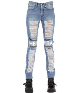 HBA  HOOD BY AIR | Shredded Cotton Denim Jeans