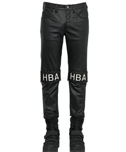 HBA  HOOD BY AIR | 17cm Velcro Patched Smooth Leather Jeans