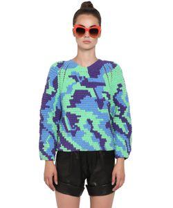 HELEN RODEL   Hand Crocheted Cotton Sweater