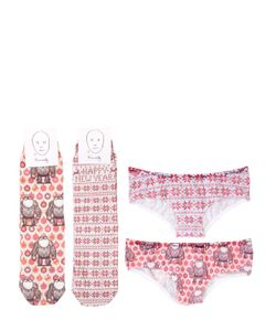 HOMELY | Printed Cotton Socks Brief Set