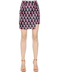 House Of Holland | Mushroom Printed Techno Twill Mini Skirt