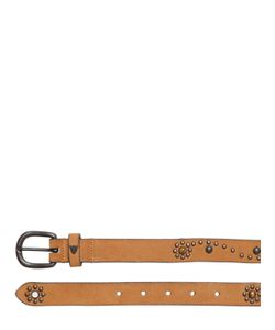 HTC Hollywood Trading Company | 30mm Daisy Studded Leather Belt