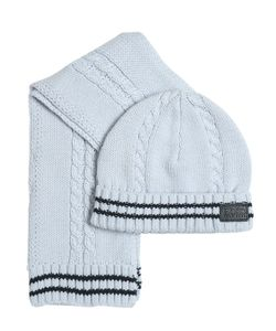 HUGO BOSS | Tricot Cotton Scarf Hat