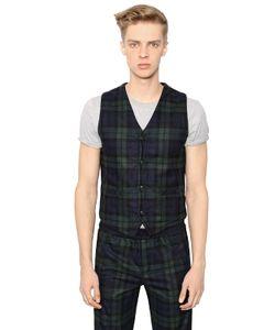 Hydrogen | Plaid Wool Vest