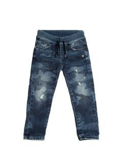 HYDROGEN KID | Camouflage Printed Stretch Jeans