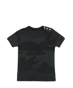 HYDROGEN KID | Camouflage Printed Cotton Jersey T-Shirt