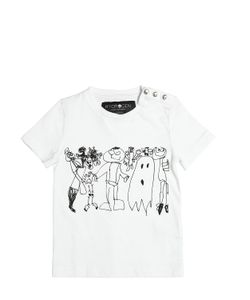 HYDROGEN KID | Monsters Printed Cotton Jersey T-Shirt