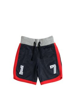 HYDROGEN KID | Mesh Cotton Jersey Jogging Shorts
