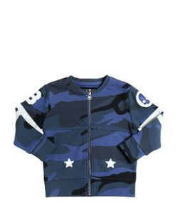 HYDROGEN KID | Camouflage Cotton Sweatshirt W/ Patches