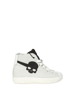 HYDROGEN KID | Polka Dot Printed Nappa Leather Sneakers
