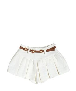 I Pinco Pallino | Cotton Honeycomb Jacquard Shorts