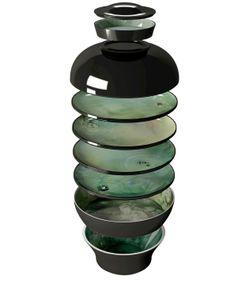 Ibride | Black Yuan Set Of 4 Bowls And 4 Plates
