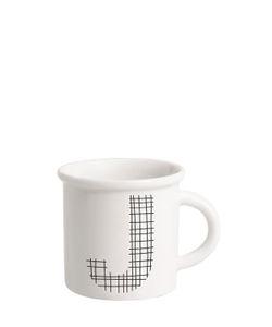 ILARIA.I | Letter J Porcelain Mug