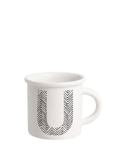 ILARIA.I | Letter U Porcelain Mug